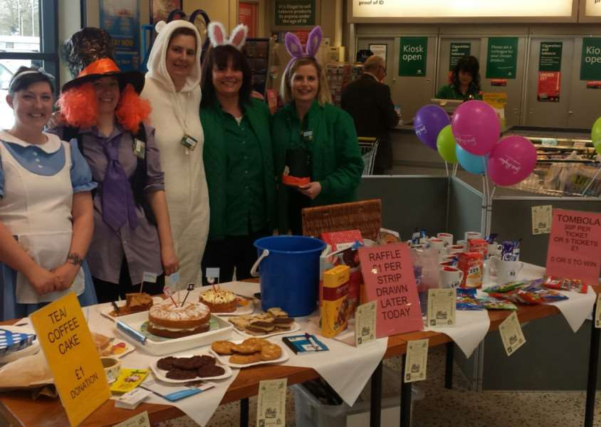 Mad Hatter's Tea Party fundraiser at Morrisons in Diss
