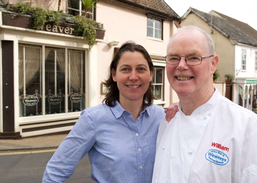 Diss, Norfolk. Weavers restaurant in Diss which celebrates 30 years of business on April 1, 2017, pictured are owners William and Katrina Bavin. ''Picture: MARK BULLIMORE PHOTOGRAPHY