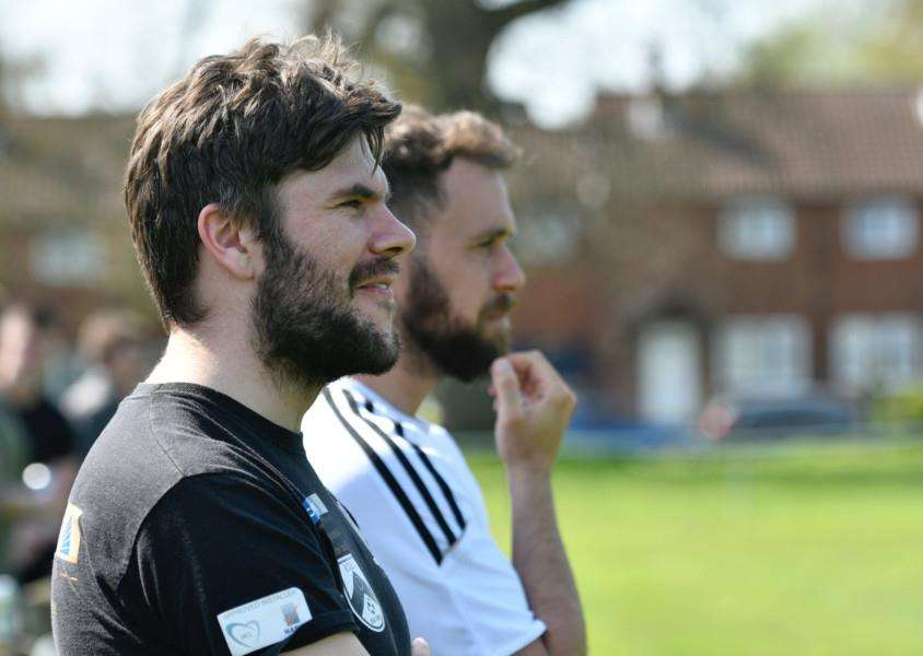 ON THE VERGE: Harleston manager Adam Gusterson