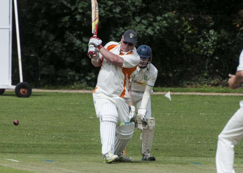 WASHED OUT: Andy Paine batting for Diss II during their abandoned clash with Dereham II