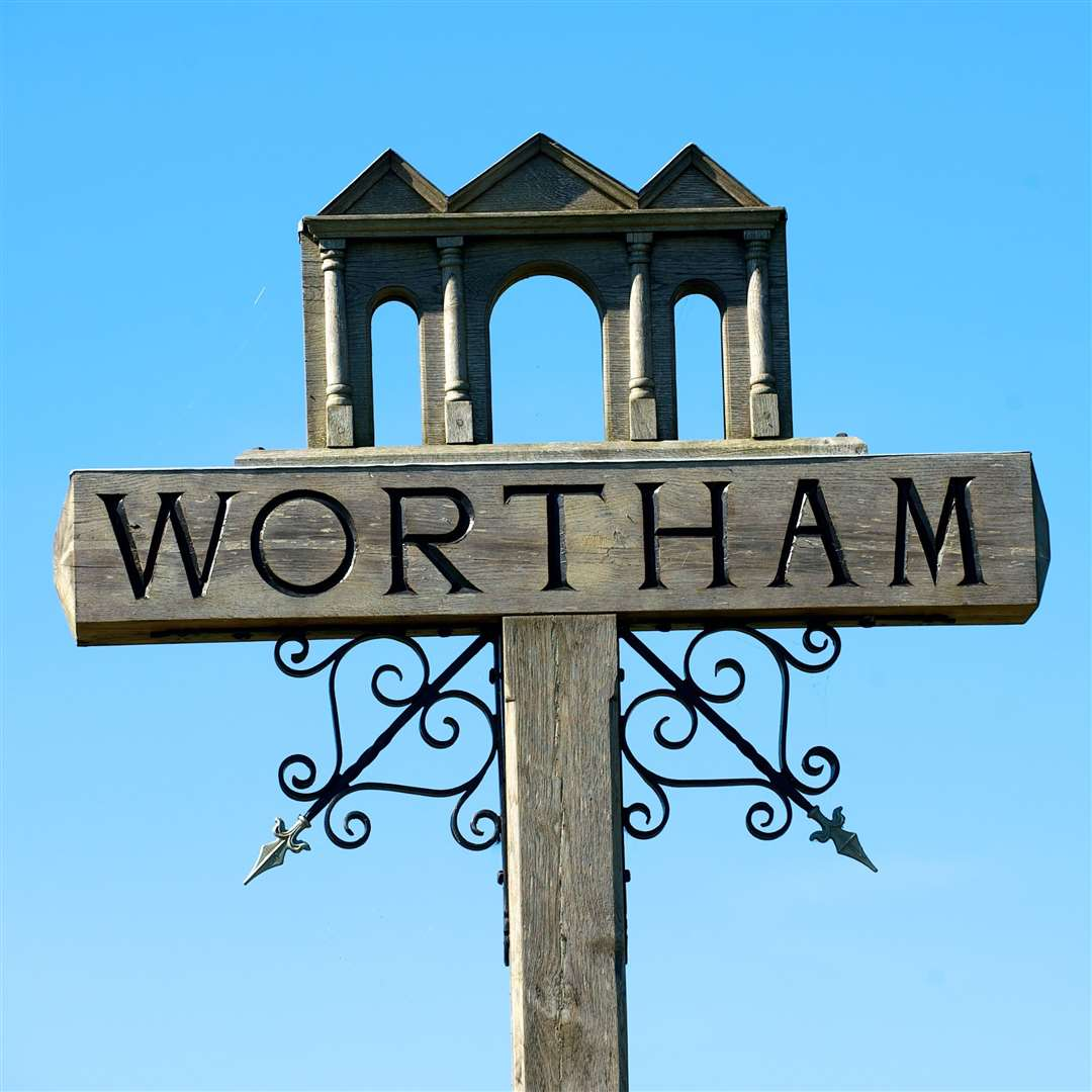Wortham village sign