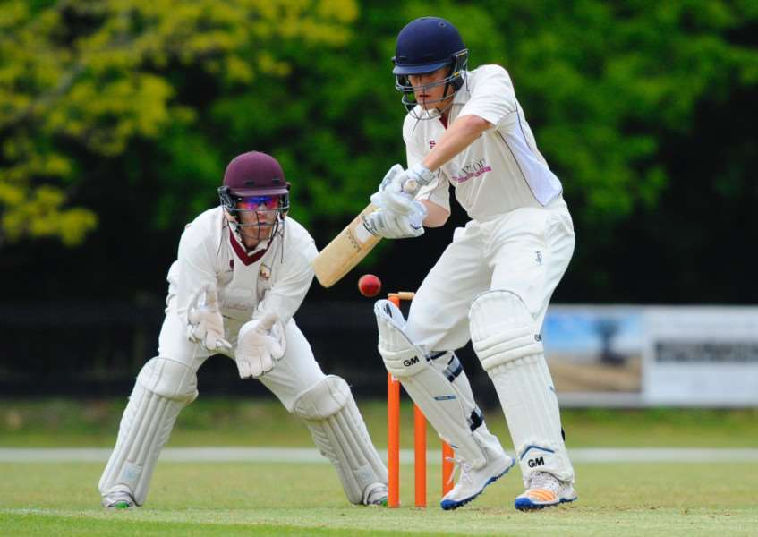 TOP SCORER: Matthew Bint on his way to scoring 39 runs in Old Bucks' victory