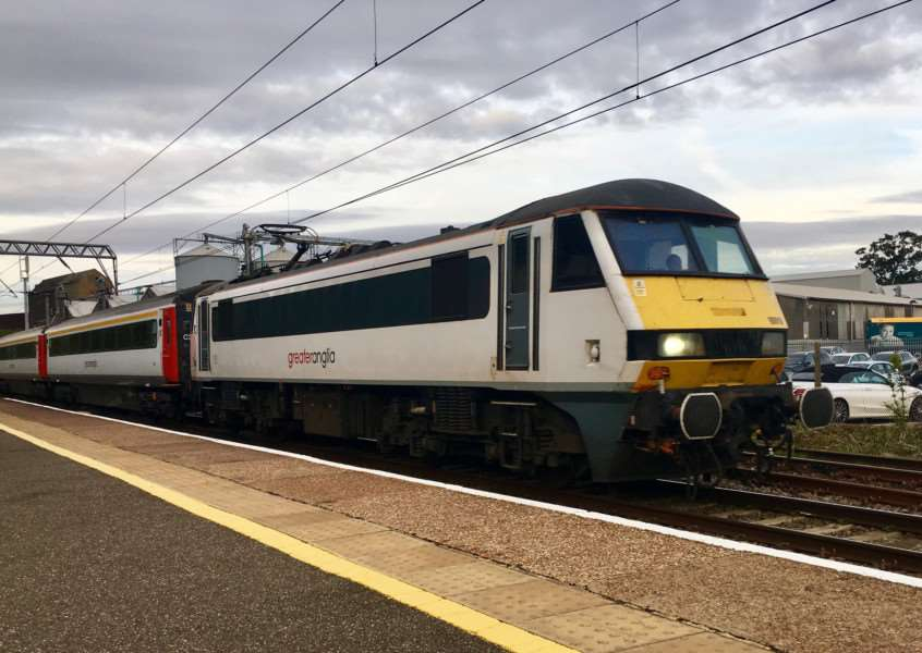 Greater Anglia train at Diss railway station. Picture: Andrew Martin.