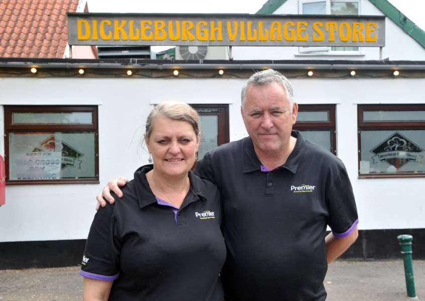 New owners of Dickleburgh stores, Mike and Karen Humphries. ANL-150508-144305009