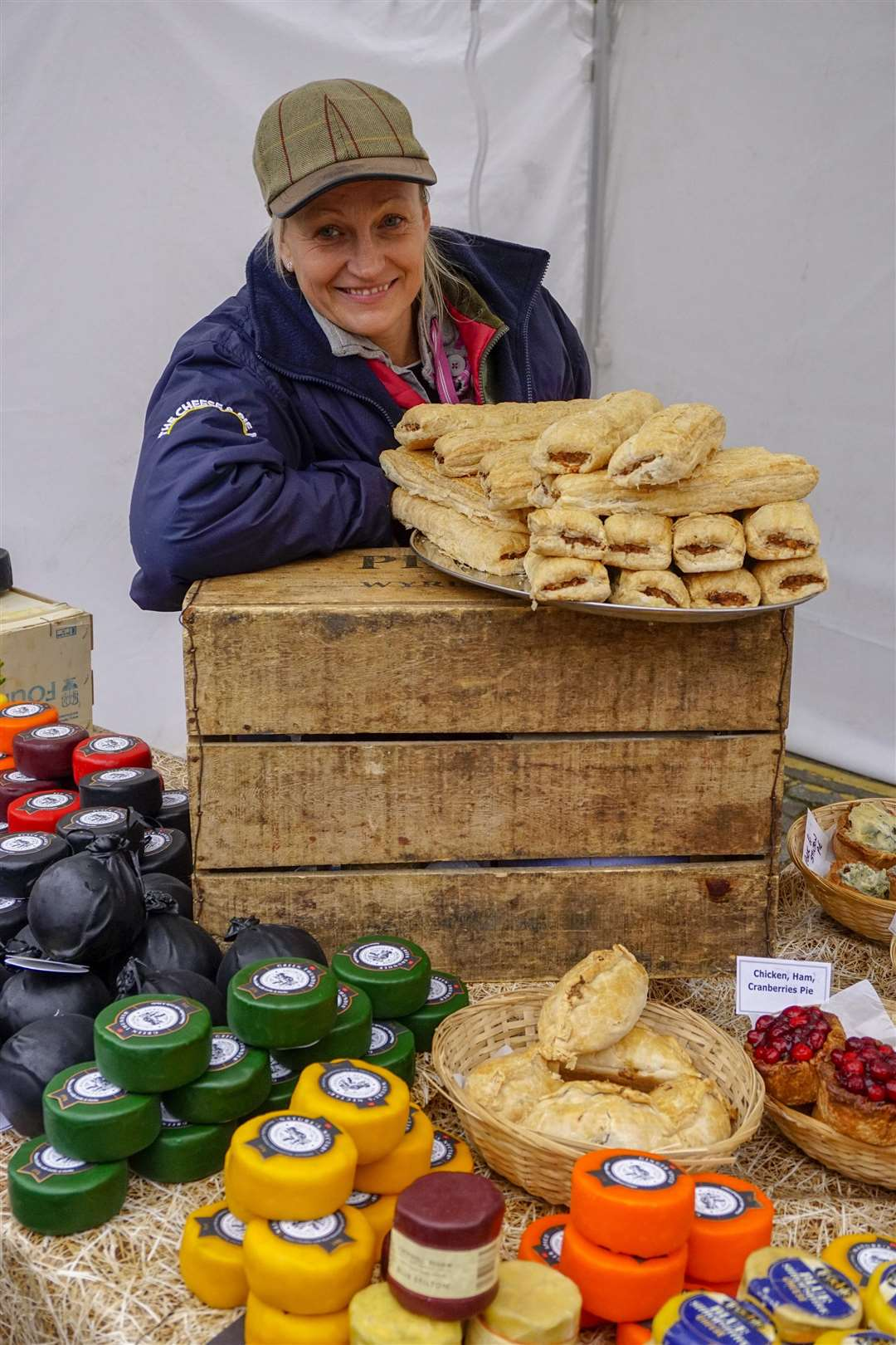 Purdey Gould of the cheese and pie man