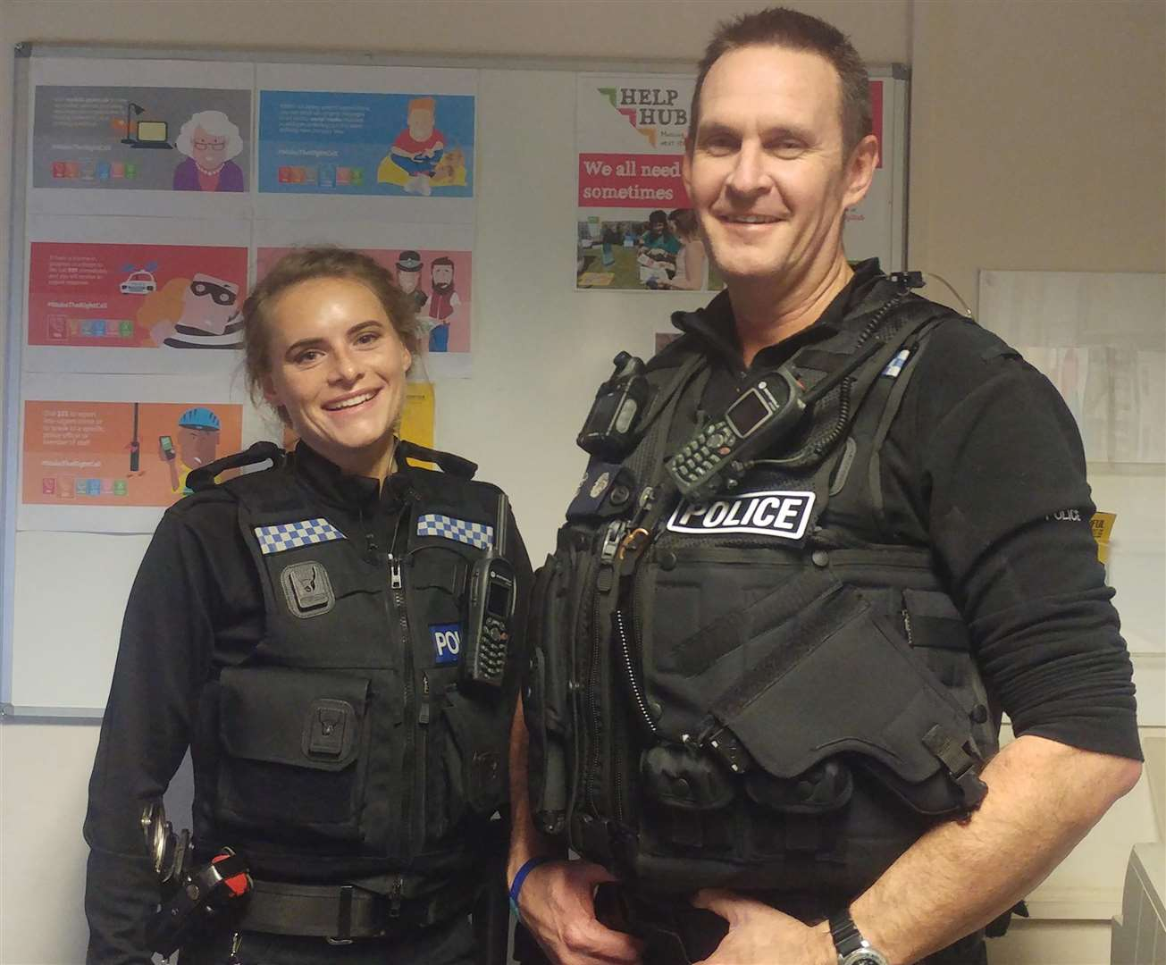 Diss Express reporter joined Pc Sarah Griffiths and Pc Trevor McLoughlin on a night shift.