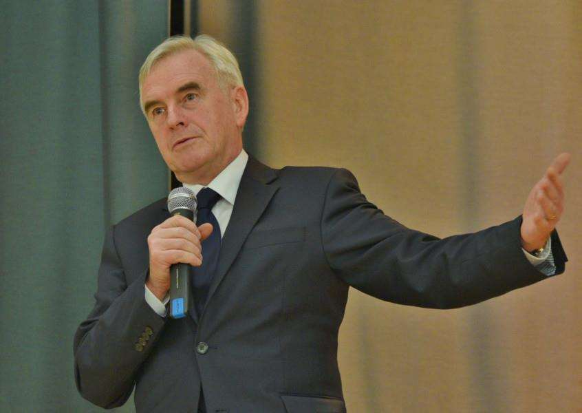 Shadow Chancellor of the Exchequer John McDonnell.