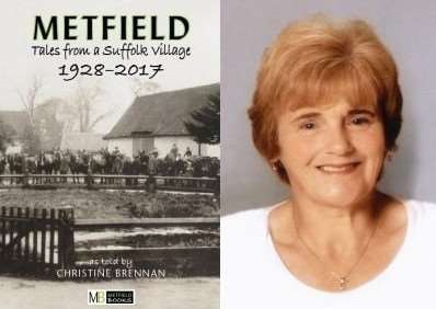 Christine Brennan and her book, Metfield: Tales From a Suffolk Village 1928-2017. Submitted pictures.