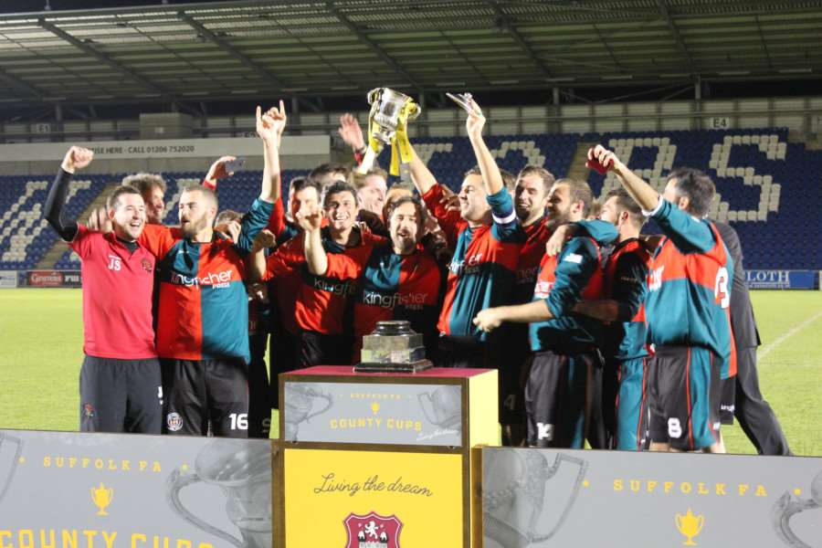 CHAMPIONS: Bacton players celebrate
