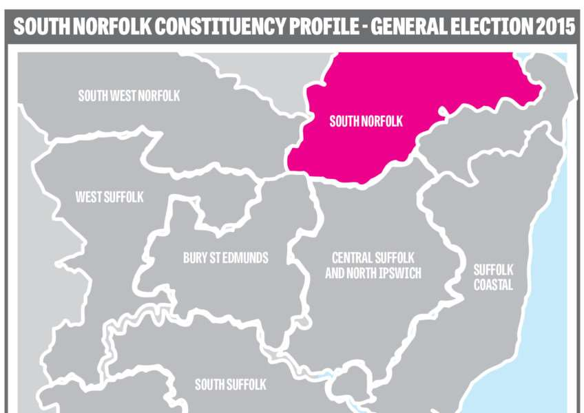 South Norfolk parliamentary constituency map