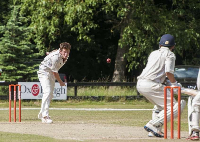 ON THE ATTACK: Alex Hogg bowls for Garboldisham at the weekend