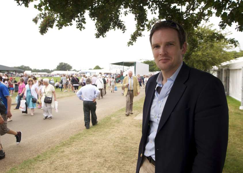 Ipswich, Suffolk. Day two of the Suffolk Show at Trinity Park in Ipswich - Dr Dan Poulter MP at the second day of the Suffolk Show''Photograph by Mark Bullimore. Credit Mandatory.t: 07813 799 343. e: mail@eaps.org.uk. w: http://www.eaps.org.uk ENGANL00120110606144455