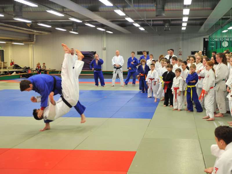 LOCAL SUPPORT: Olympian Colin Oates took a judo demonstration at Breckland Leisure Centre, Thetford in 2015