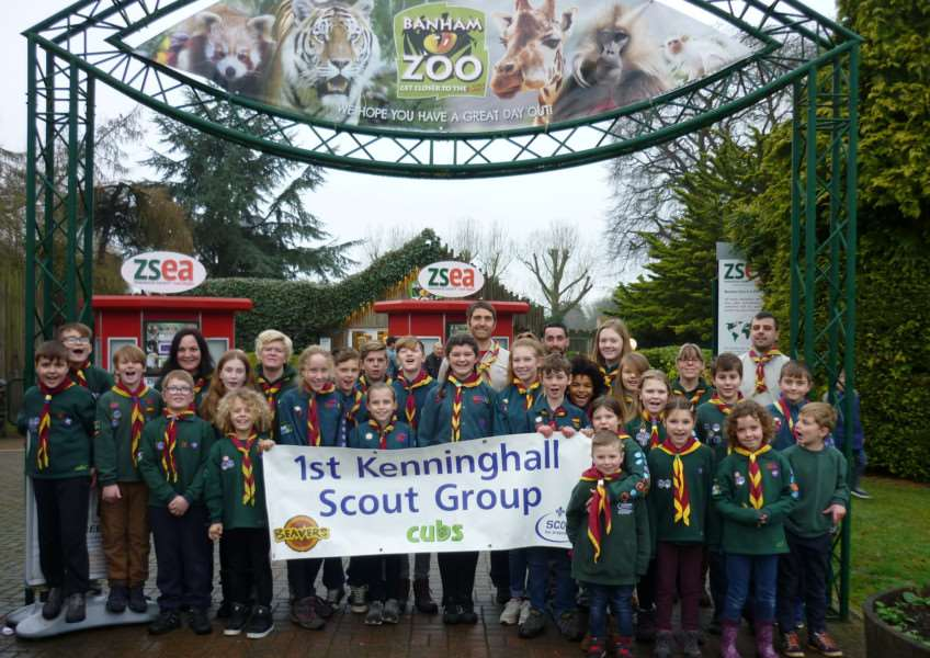 TWO BY TWO: Kenninghall cubs and scouts helped with the annual count of animals at Banham Zoo.