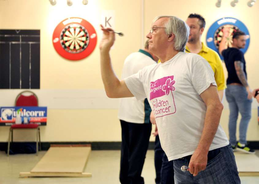 TAKING AIM: Action from the Bury Open Darts held earlier this month.