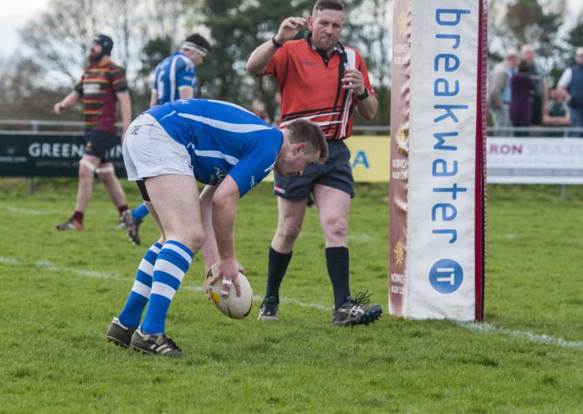 DERBY THRASHING: Todd Wishart scored a try for Diss