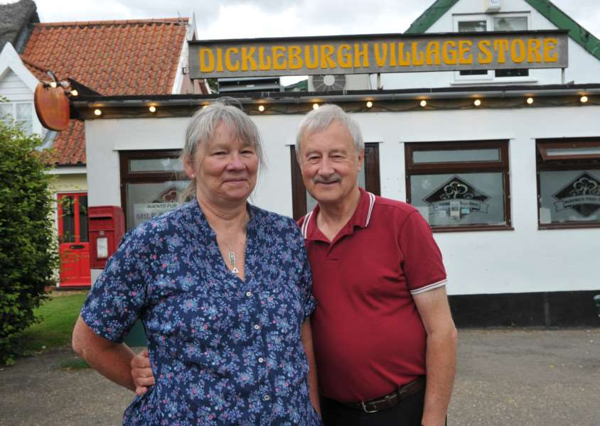 Bob and Sue Greenwood retiring from Dickleburgh stores ANL-150722-152621009