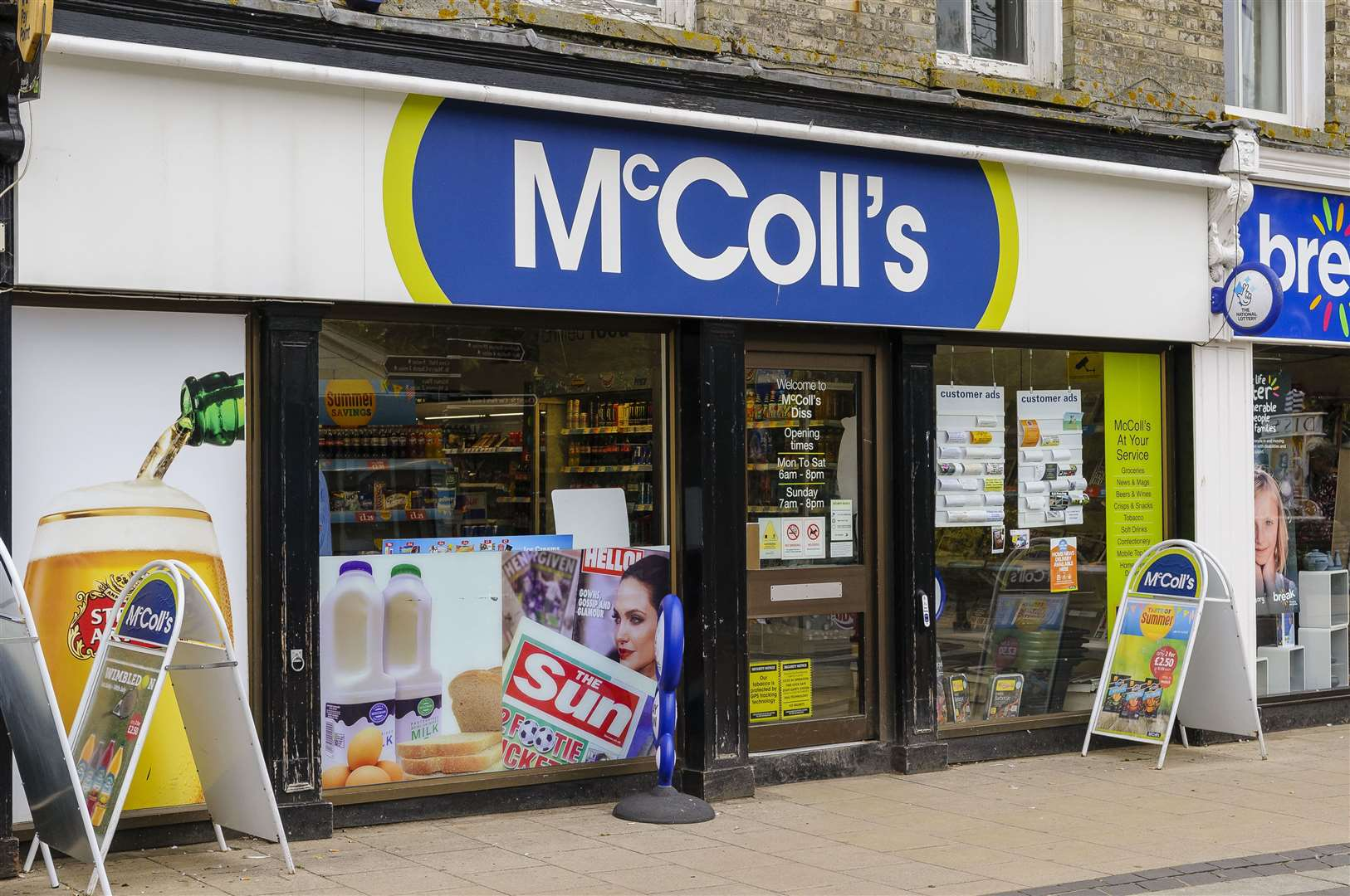 McColl's in Diss is due to close. Picture by Mark Bullimore.