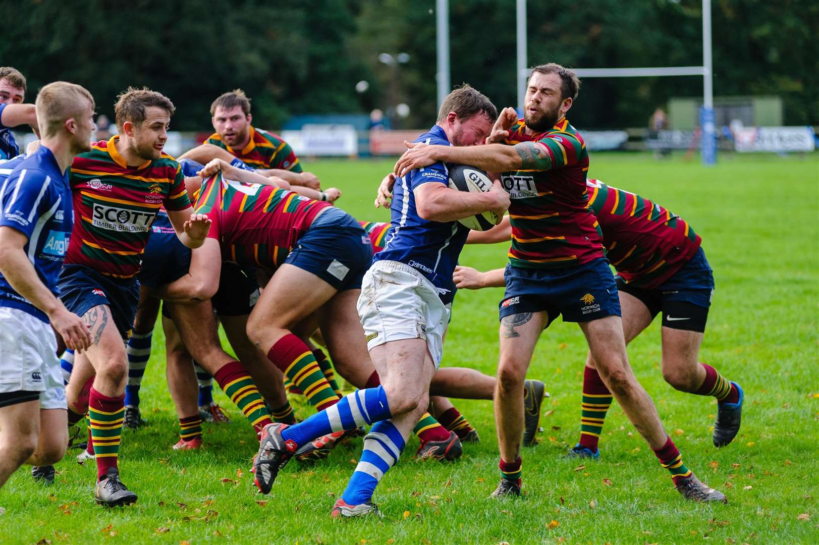 Rugby action from Diss v Norwich - Deaglan Hall..Mark Bullimore Photography 2019. (31887618)