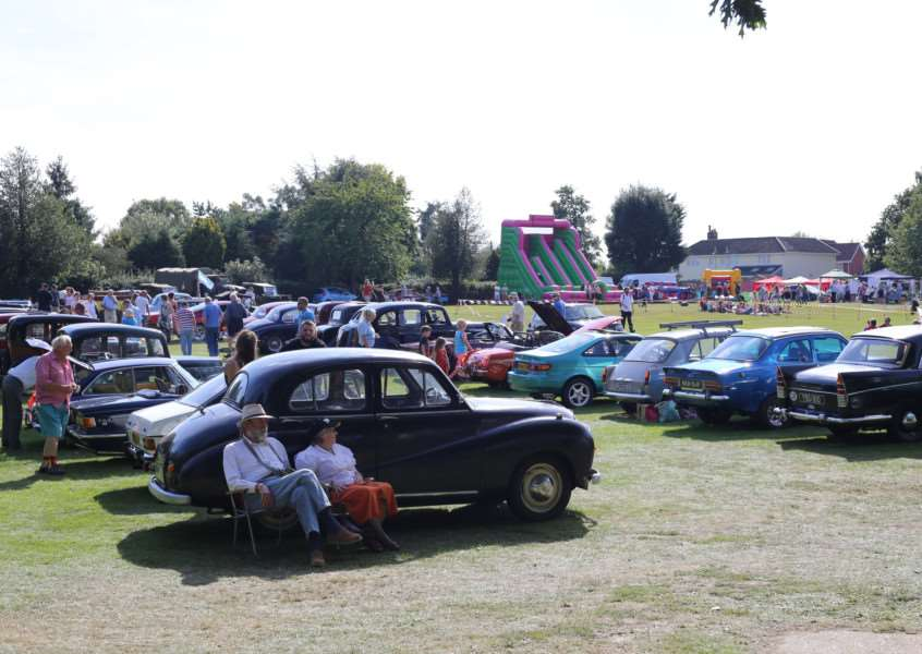 Classic cars on display at Harleston's Family Fun Day. Submitted picture.