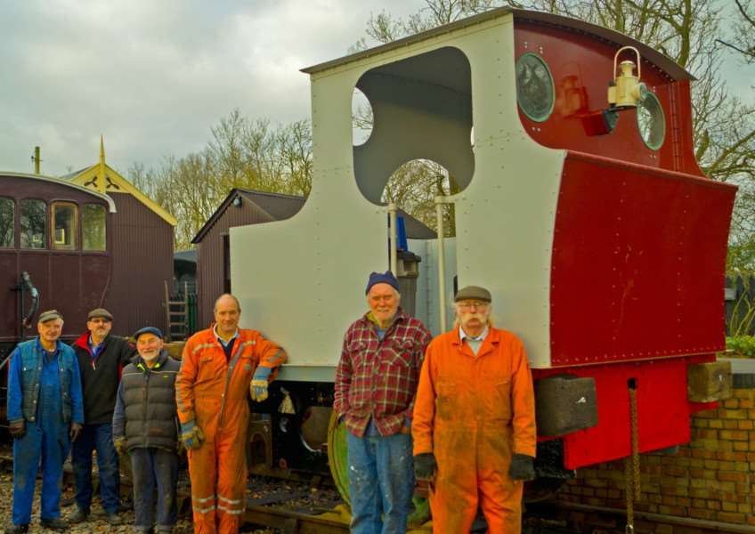Image shows the progress Mid Suffolk Light Railway's current restoration team are making with their locomotive, Hudswell Clarke no. 1604, which is typical of the kind of work the HLF award will help continue with. 'Picture by Lawrie Rose. ANL-160314-125250001