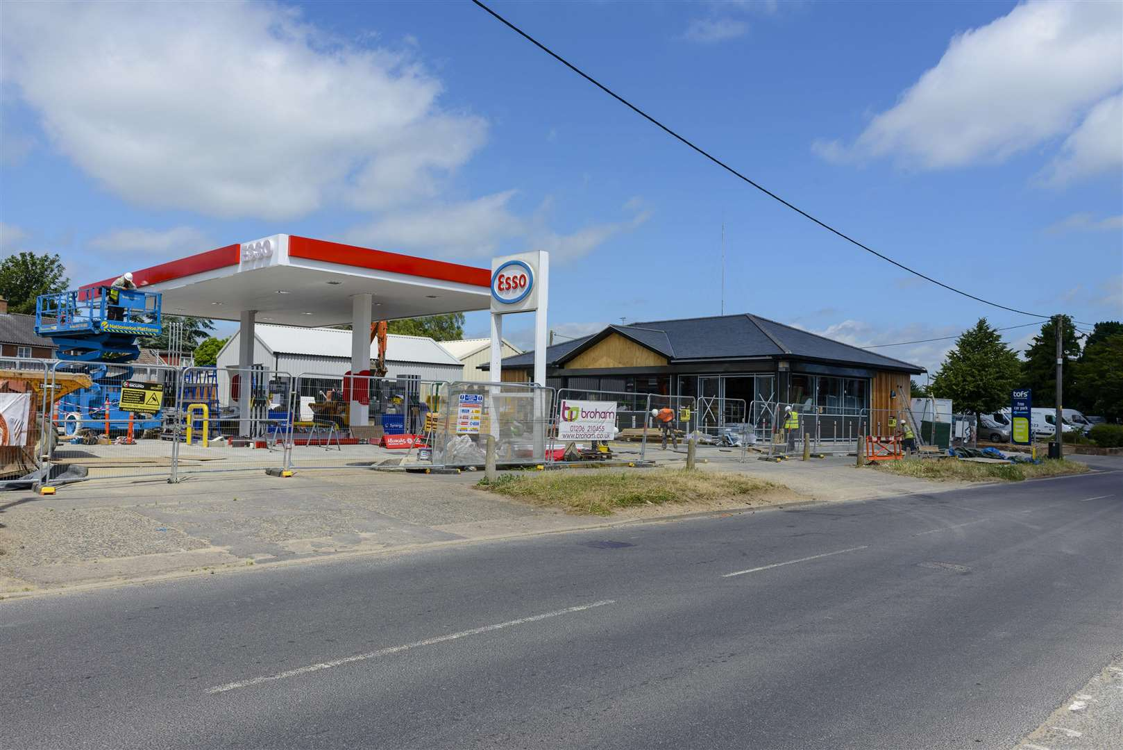 Harleston, Norfolk. 20 June 2018.Harleston petrol station which is nearly completion and will have a Budget convince store on site. ..Picture by Mark Bullimore Photography. (2644994)