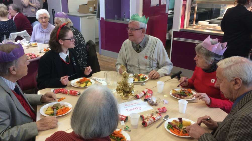 Archbishop Sancroft High School students have spread some Christmas cheer to their community with an annual festive dinner for older residents. ANL-161219-142701001