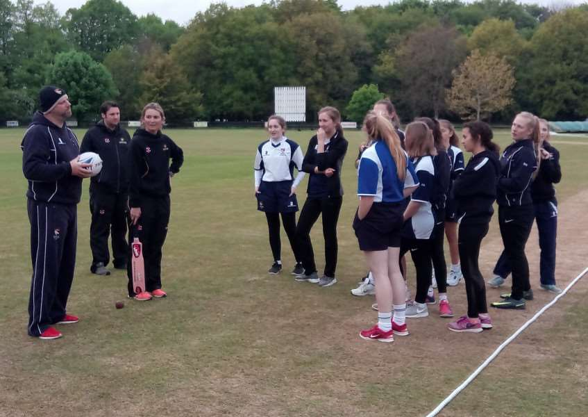INTERNATIONAL EXPERIENCE: Charlotte Edwards put on a number of training sessions at Old Buckenham Cricket Club