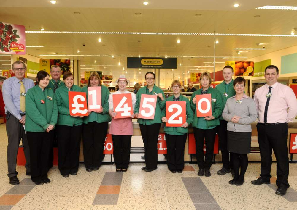 Staff at Morrisons in Diss have raised �14520 for various charities.
