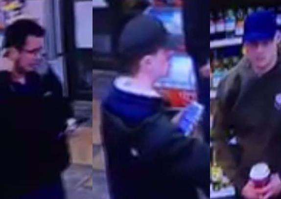 Police have issued CCTV images of three men they would like to speak to in connection with two thefts from vehicles in Norfolk and Suffolk. Submitted picture.