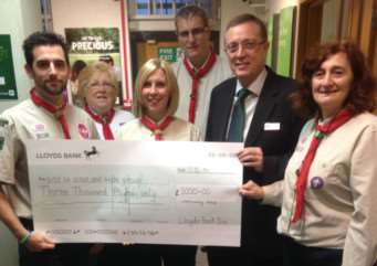 Diss Scout and Guide Group receives �3,000 from the Lloyds Bank Community Fund