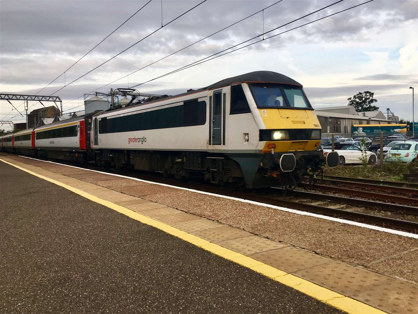 Greater Anglia train at Diss railway station. Picture: Andrew Martin.. (2558616)