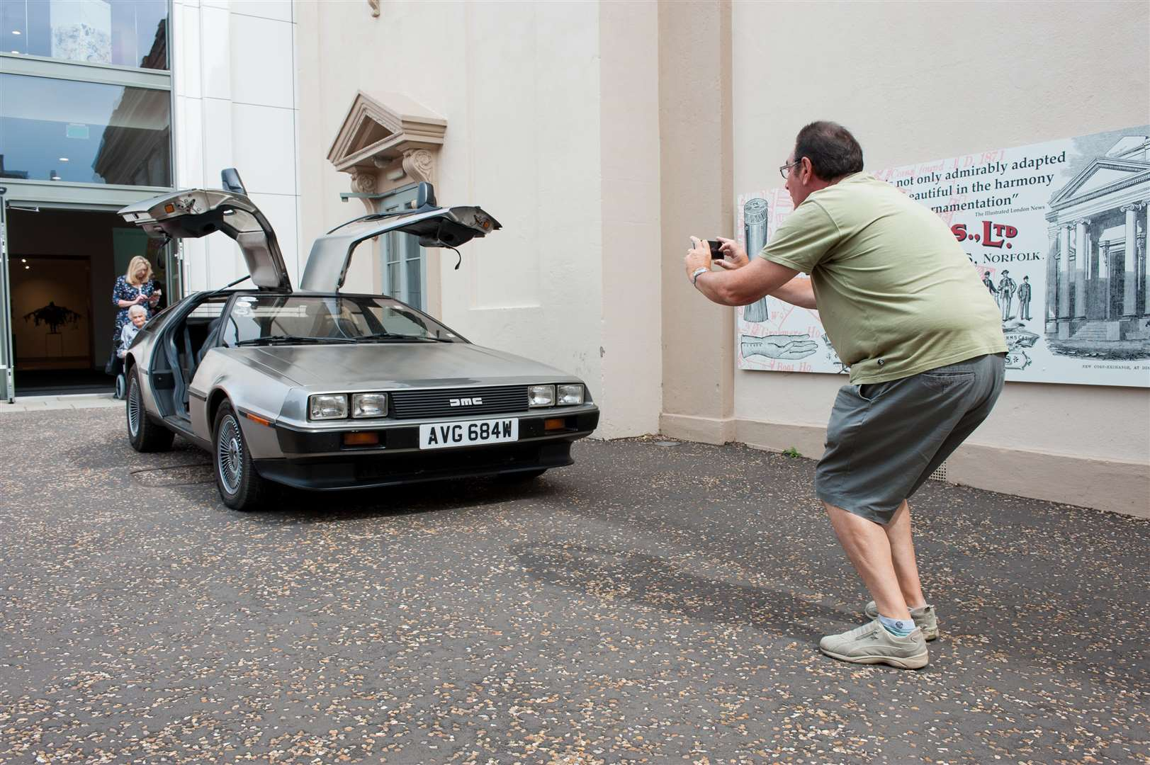 More than 100 cars from the 1920s to the 1980s 80s including a Delorean, at the Corn Hall