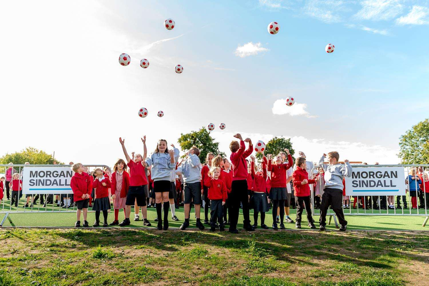 GAME ON: Pupils at Roydon Primary School were in jubilant mood. Picture by Mike Norman of Maxim Photography.