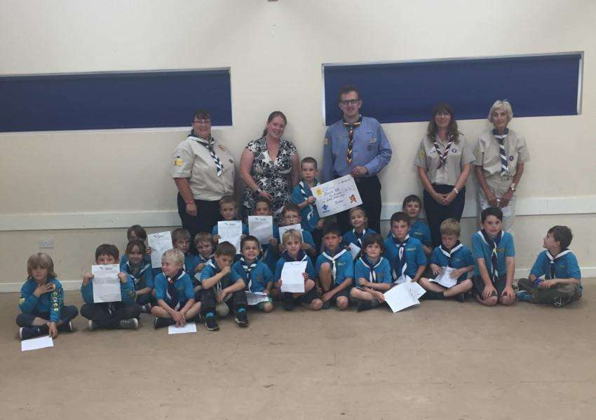 The Beavers in Eye raised �120 for charity.