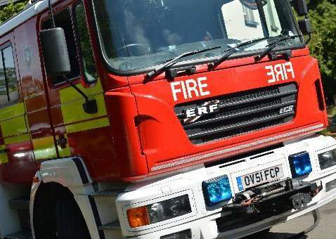 Two fire engines attended the incident