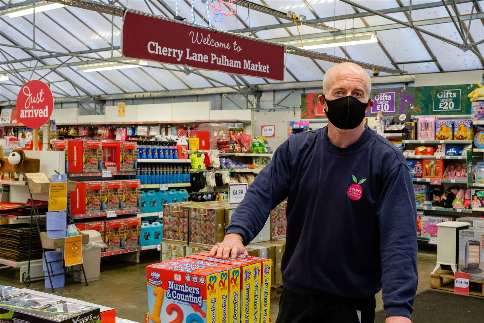Pulham Market, Norfolk, 16/12/2020..Cherry Lane Garden Centre in Pulham Market, cancelled it's Santa's Grotto this year, the garden centre has donated all it's gifts to Netherton Steakhouse's Christmas appeal. Pictured is Store manager Tom Berrisford. ..Picture: Mark Bullimore Photography. (43595100)