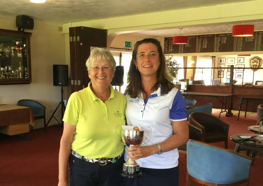 WOMEN'S CLUB CHAMPION: Kerry Enever (right)