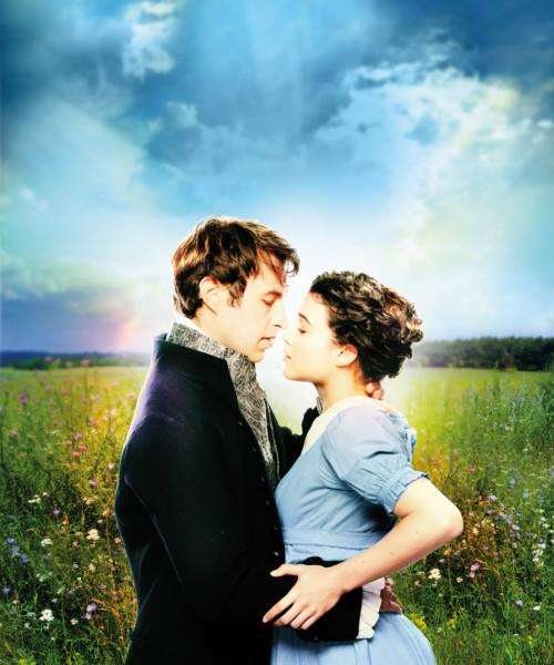 Benjamin Dilloway as Mr Darcy and Tafline Steen as Elizabeth Bennet in Pride and Prejudice.