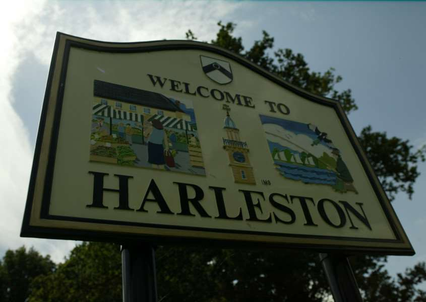 View of Harleston - Town Sign on Rushall Road