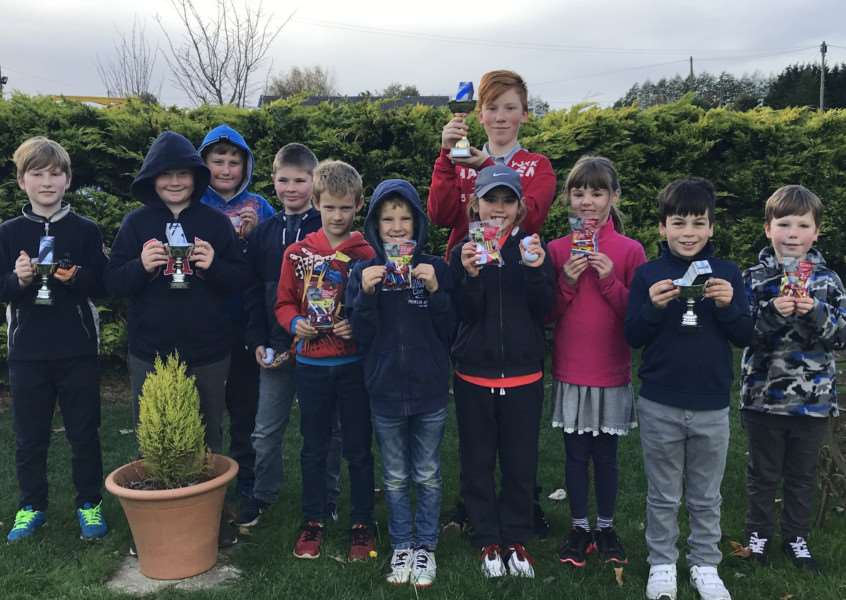 ALL SMILES: The competitiors shows off their medals at Stonham Barns