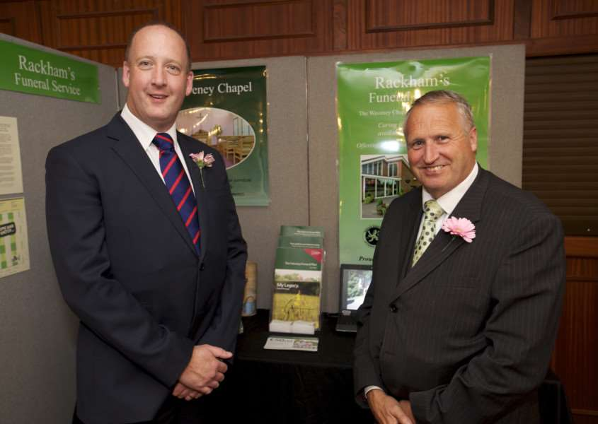 Diss, Norfolk. Diss On View Business forum at the Park Hotel - Andrew Fairweather and Keith Ridgway of Rackham's Funeral Service ENGANL00120130923114756
