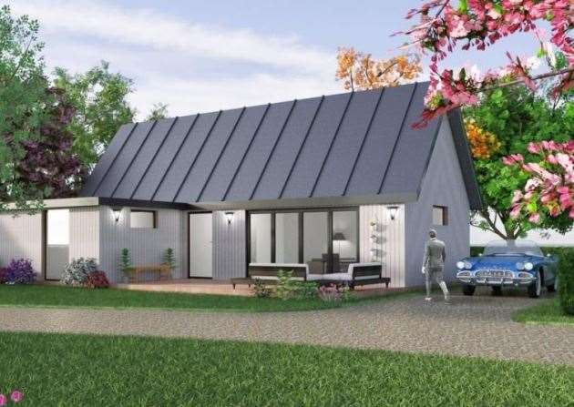 The design of the proposed holiday lodges. Picture by WT Design Ltd/Breckland Council.