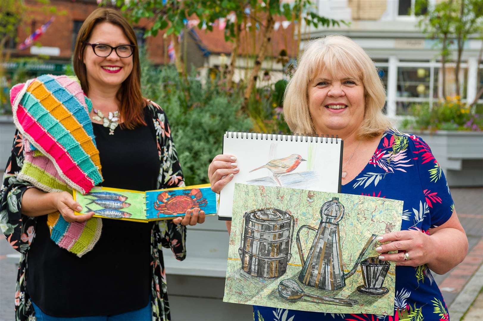 Julie Filmer (left) and Pam Spicer of Arty Crafy Norfolk Picture: MARK BULLIMORE PHOTOGRAPHY.