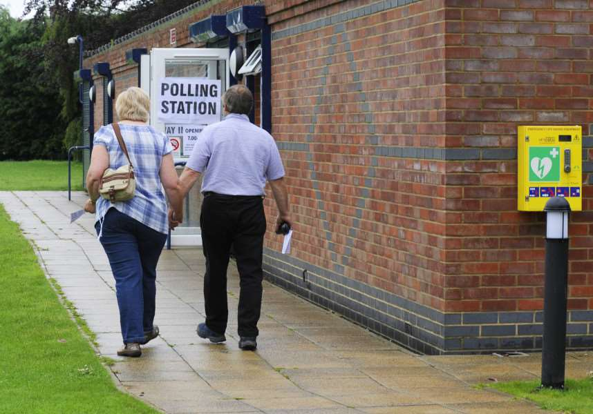 EU referendum voting gets underway for these residents at the Terrington St Clement Polling Station ANL-160623-132315009