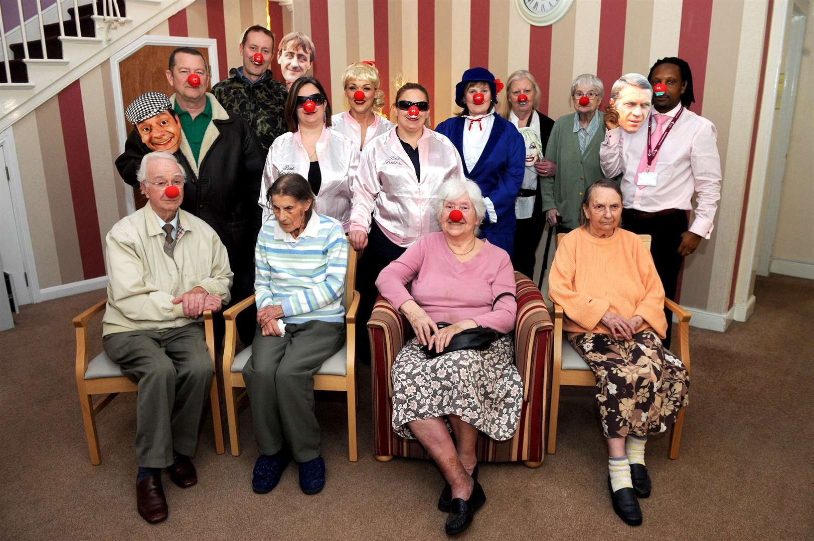Oaklands Care Home staff and residents