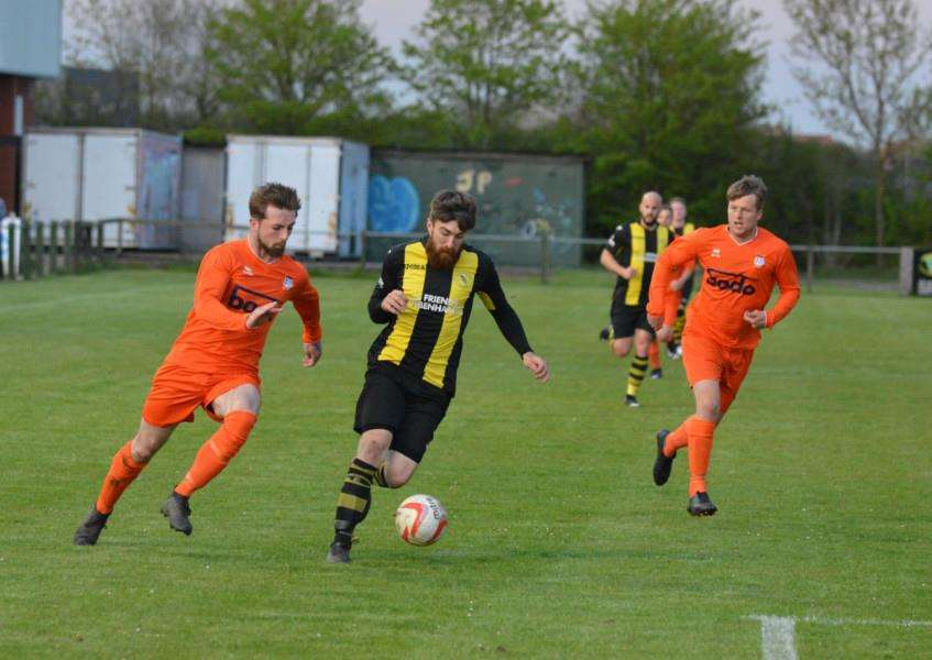 ON TARGET: Craig Jennings scored for Debenham against Diss. Picture: Ben Pooley