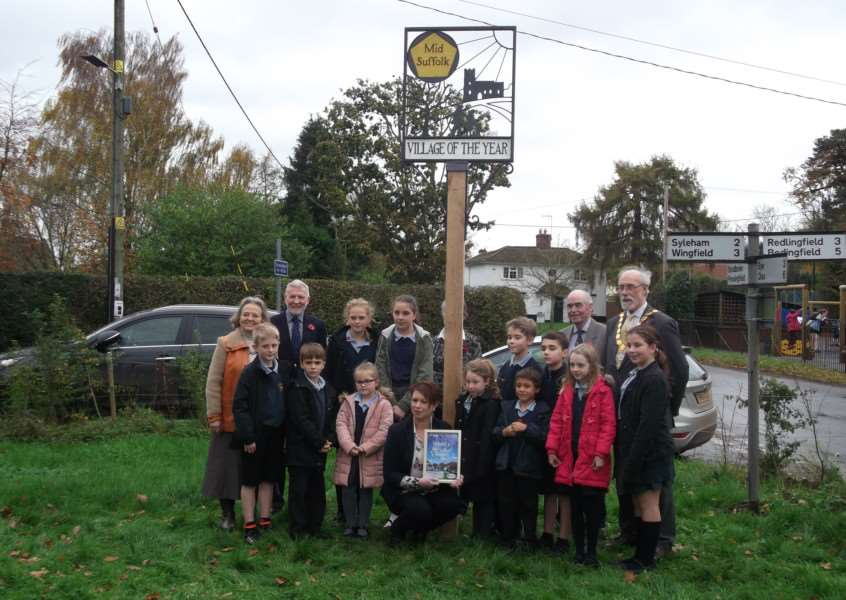 Hoxne has been crowned Mid Suffolk District Council Village of the Year. Submitted photo ANL-151123-170937001