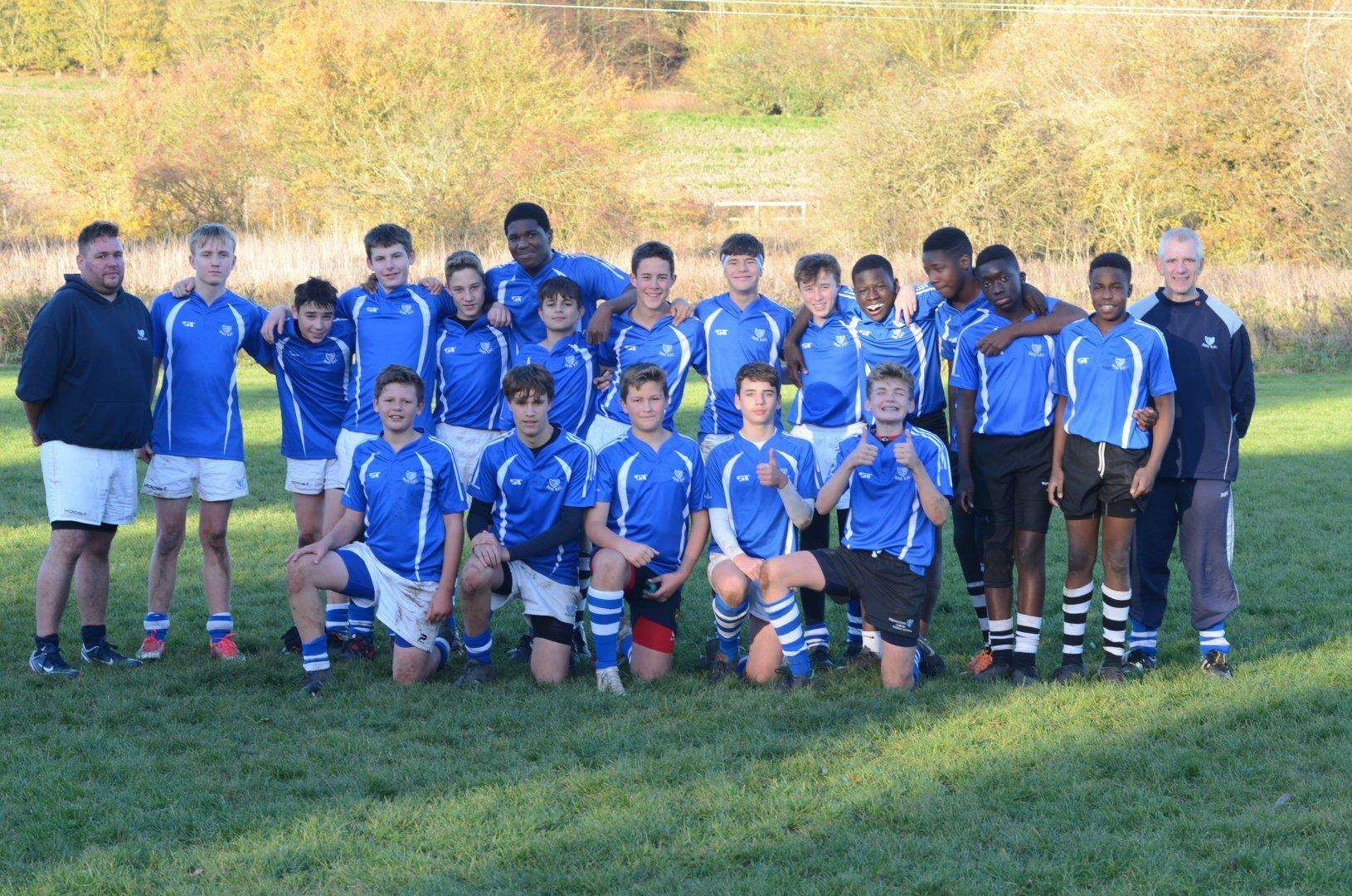 Diss Rugby Club Under-14s before their match against Bury St Edmunds on November 11. Picture: Diss RFC (5418510)