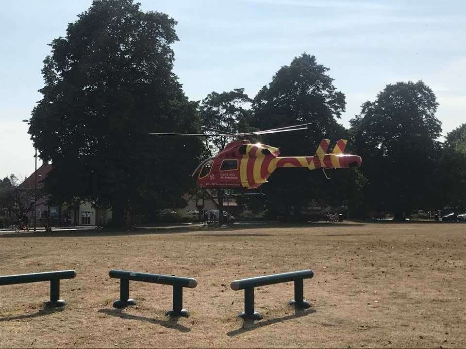 An Air Ambulance landed at the Mere (40217561)